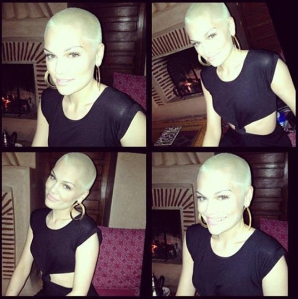 Jessie J blonde shaved head